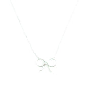 Necklace - Bow - Silver