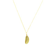 Necklace - Hanging Feather - Gold