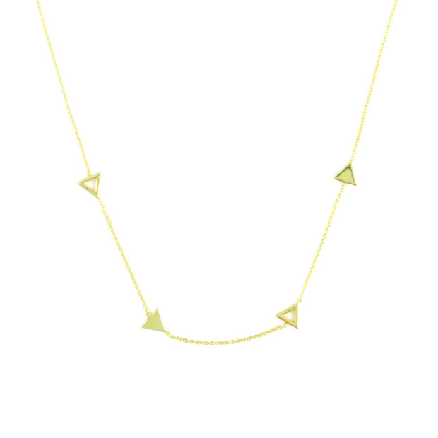 Necklace - Layered Tri - Gold