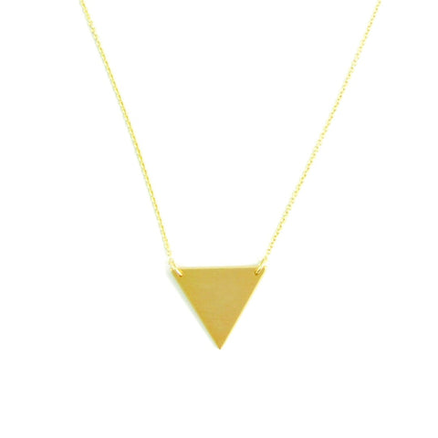 Necklace - Simple Tri - Gold