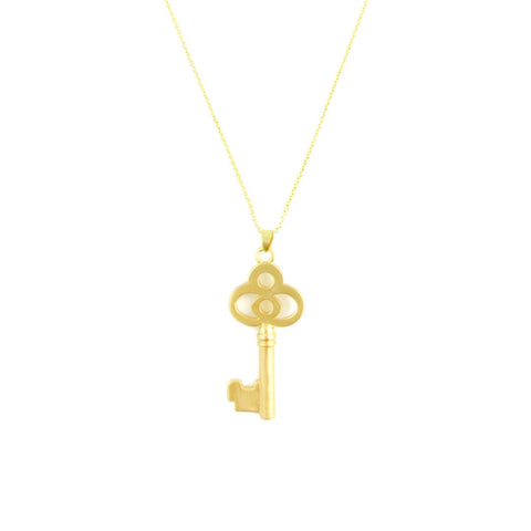 Necklace - Key - Gold