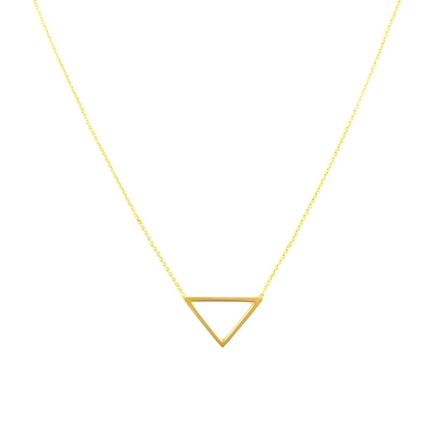 Necklace - Triangle Outline - Gold