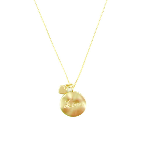 Necklace - Written Love - Gold