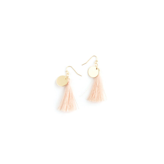 Decorative Earrings - Tassel Peach