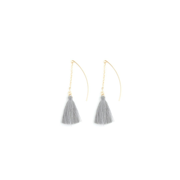 Decorative Earrings - Haning Tassel Stone