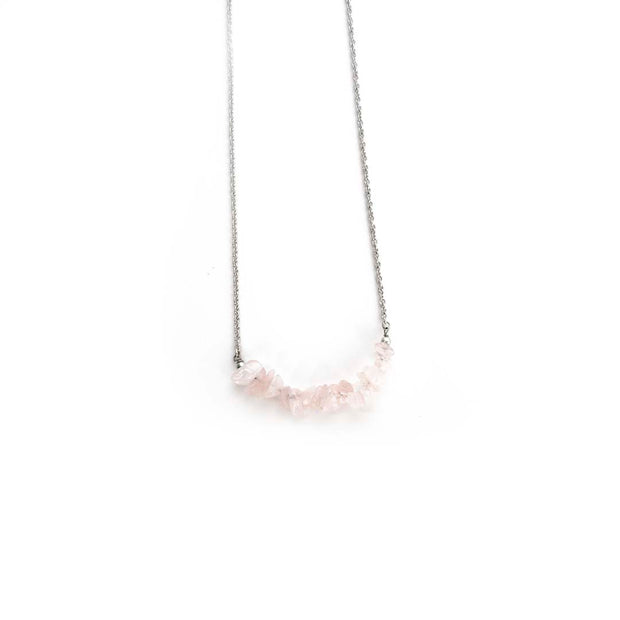 Silver Necklace- PINK