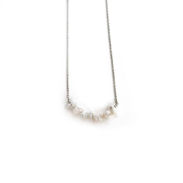 Silver Necklace- PEARL