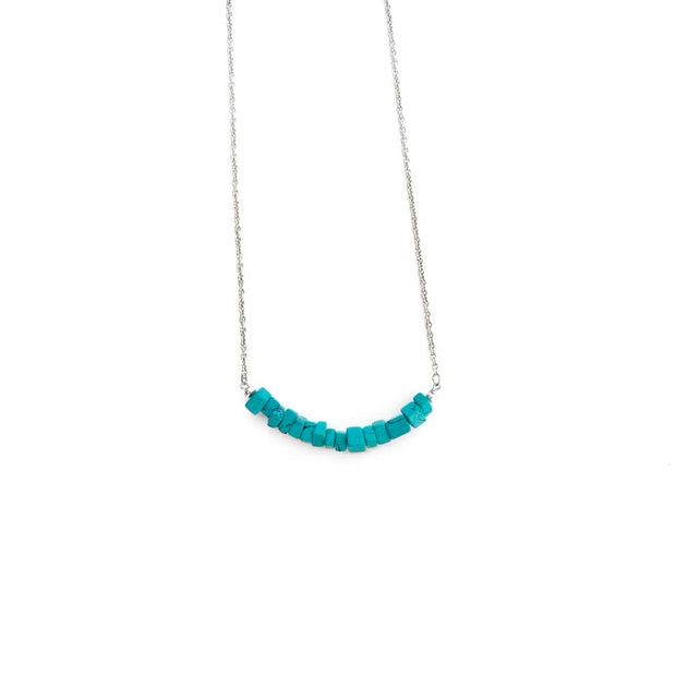Silver Necklace- AQUA