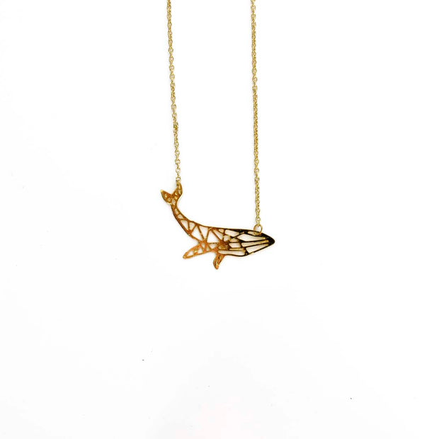 Gold Necklace - GEO WHALE