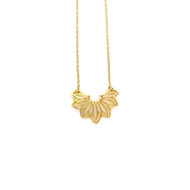 Gold Necklace - GEO FLORA