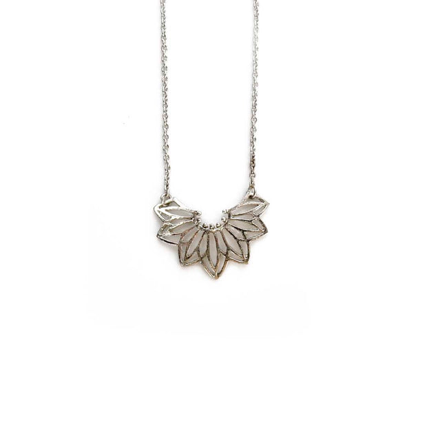 Silver Necklace - GEO FLORA