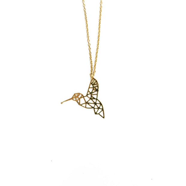 Gold Necklace - GEO HUMMINGBIRD