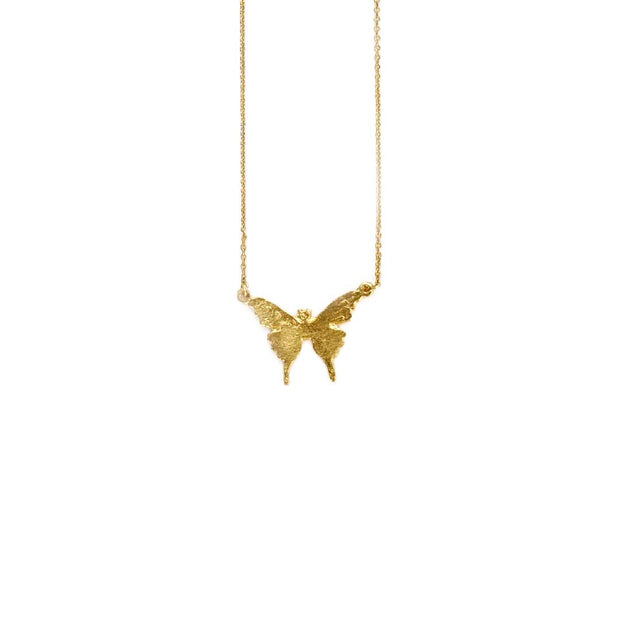 Gold Necklace - BUTTERFLY