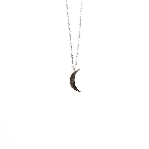 Silver Necklace - MOON