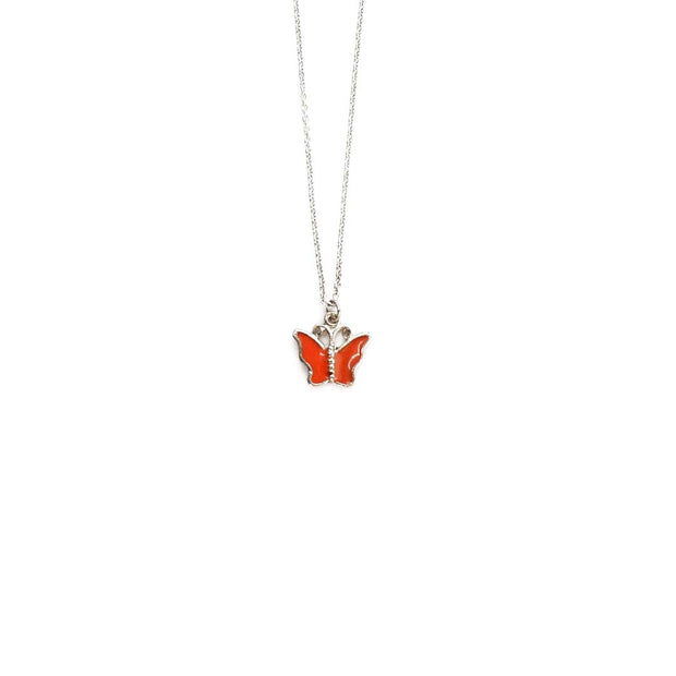 Silver Necklace - CORAL FLUTTER