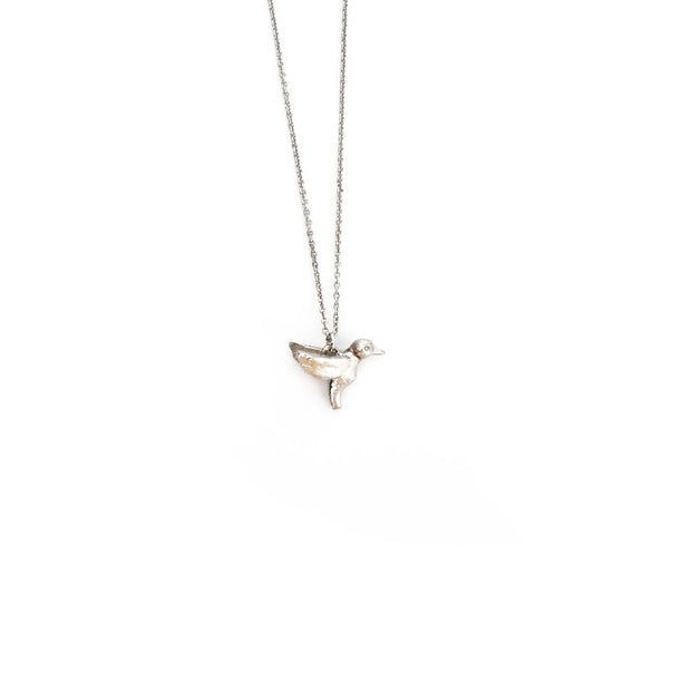 Silver Necklace - HUMMINGBIRD
