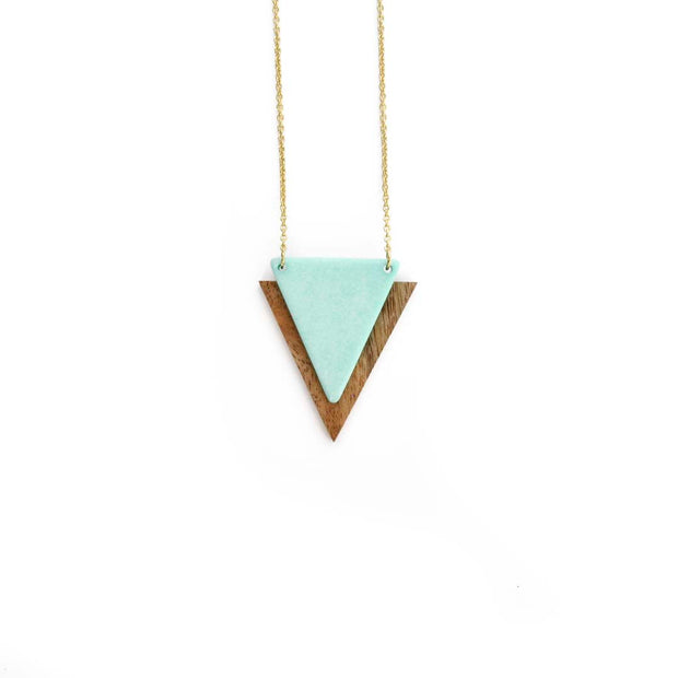 Gold Triangle Necklace - MINT