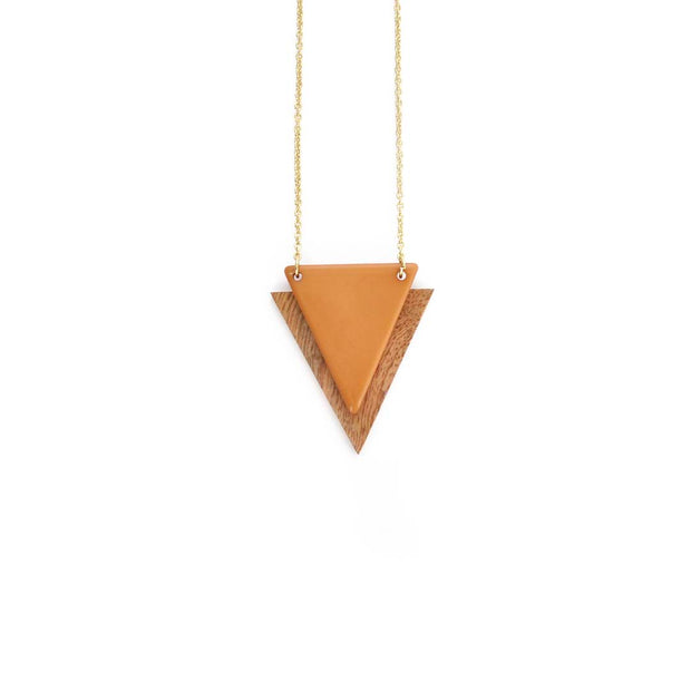 Gold Triangle Necklace - HONEY