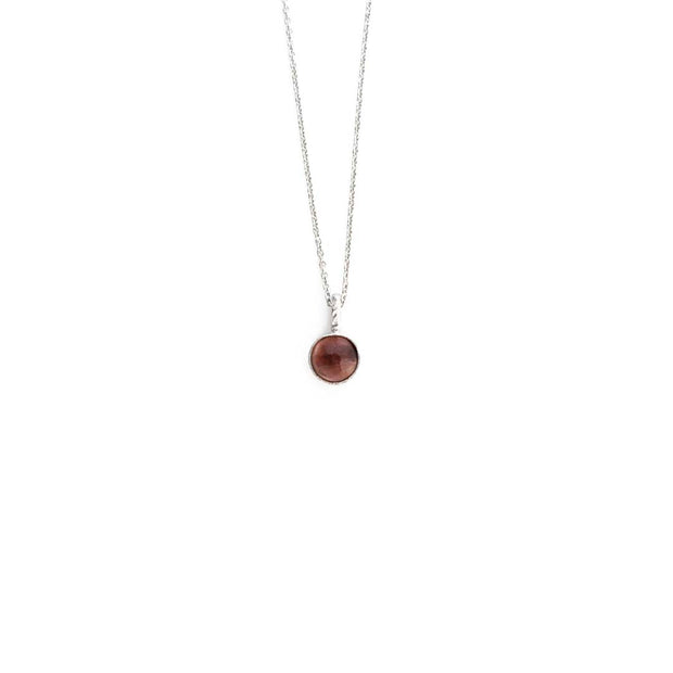 Silver Stone Necklace - FEBRUARY