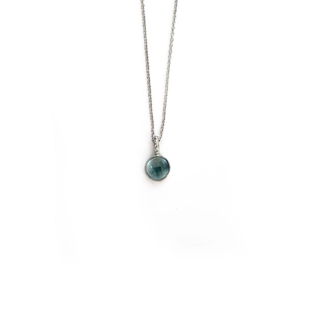 Silver Stone Necklace - MARCH