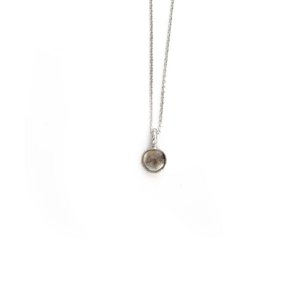 Silver Stone Necklace - APRIL