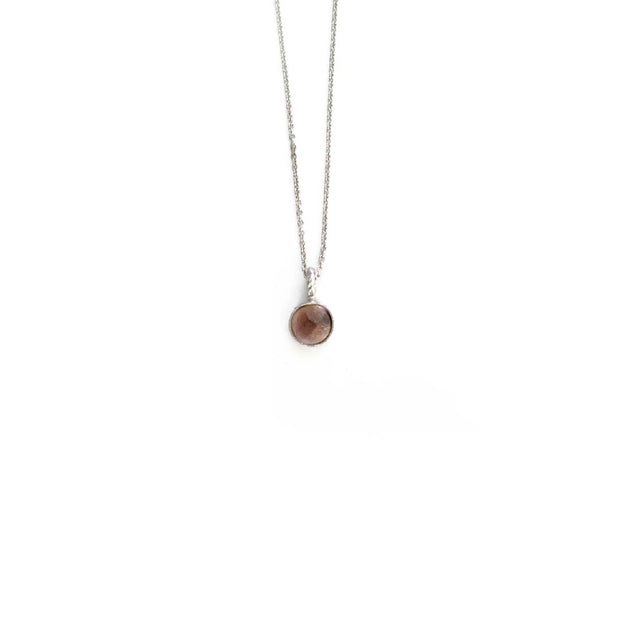 Silver Stone Necklace - OCTOBER