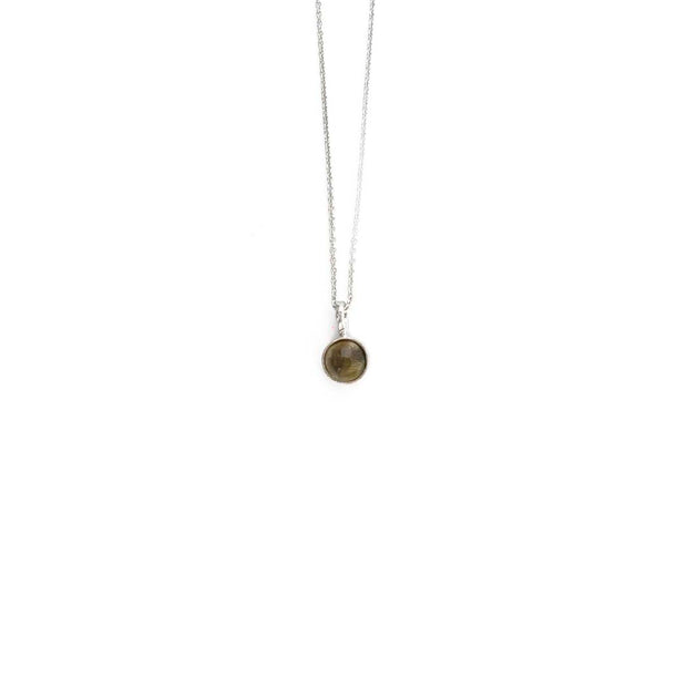 Silver Stone Necklace - NOVEMBER