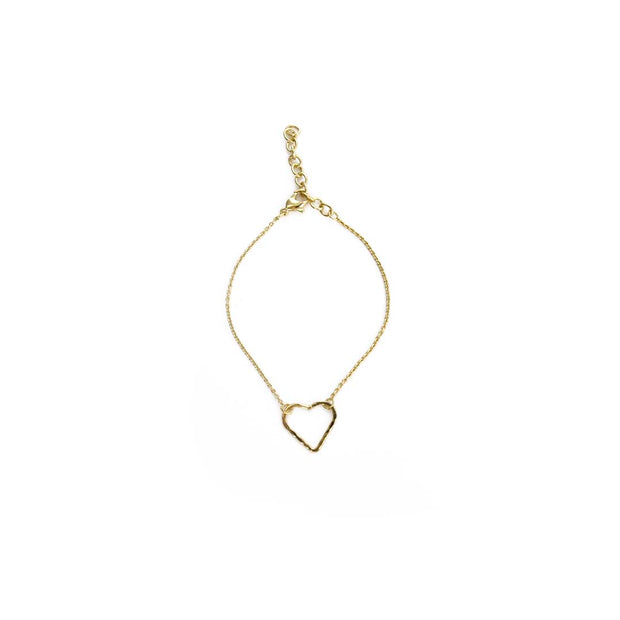 Gold Bracelet - HEART OUTLINE