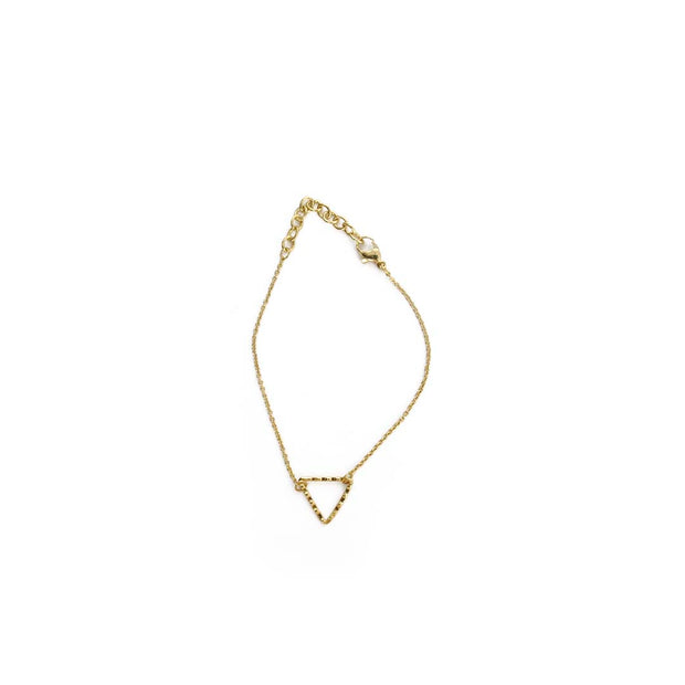 Gold Bracelet - TRIANGLE OUTLINE
