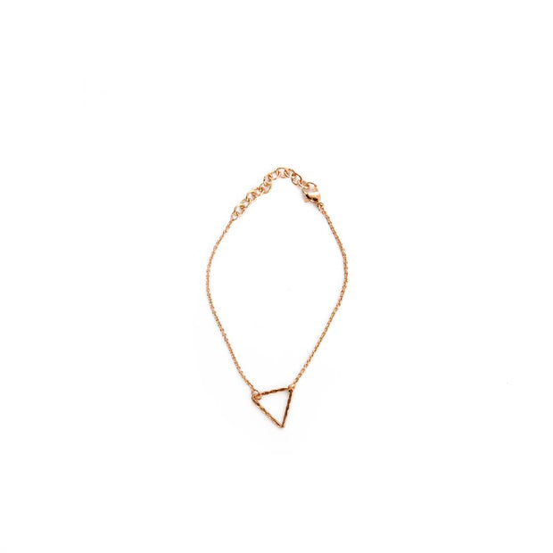 Rose Gold Bracelet - TRIANGLE OUTLINE