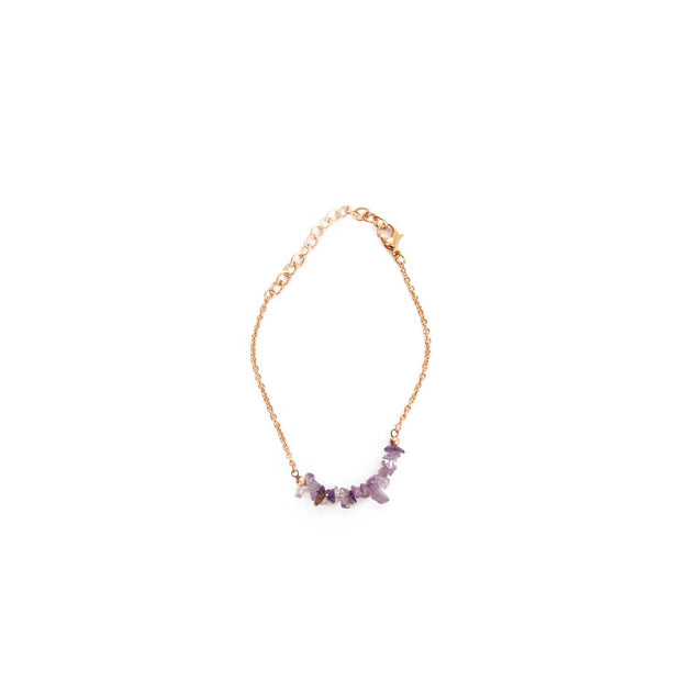 Rose Gold Bracelet - LT PURPLE
