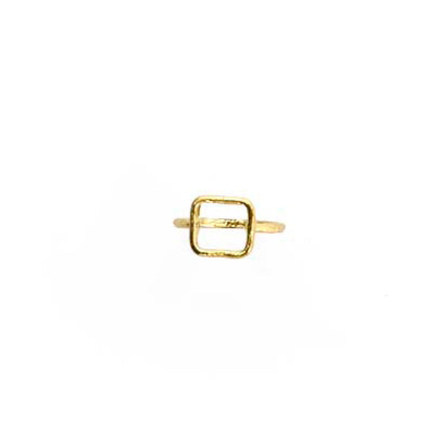 Gold Ring - S/M SQUARE OUTLINE