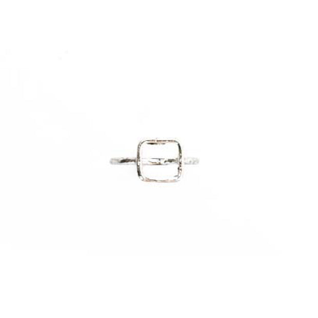 Silver Ring - M/L SQUARE OUTLINE