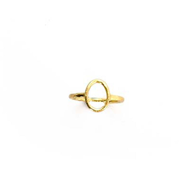 Gold Ring - M/L OVAL OUTLINE