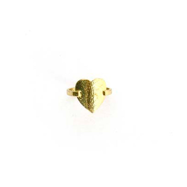 Gold Ring - S/M HEART
