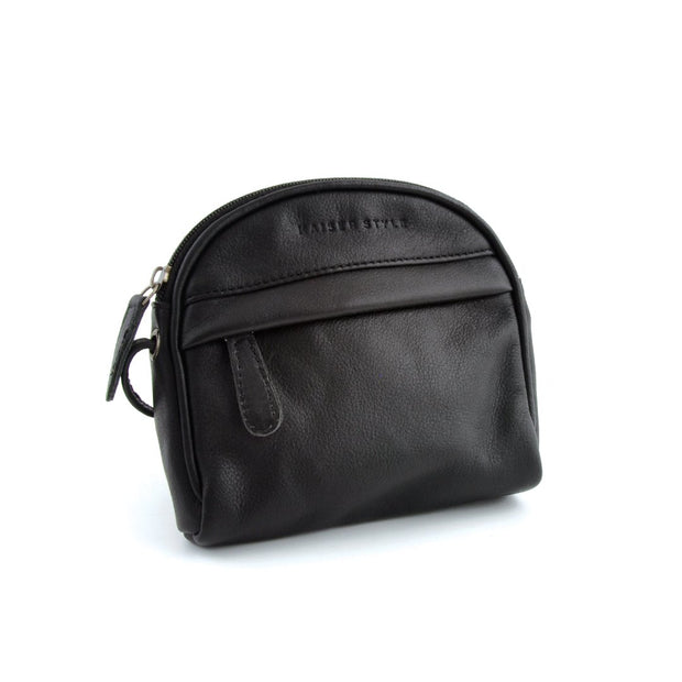 Curved Shoulder Bag - Black