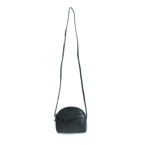 Curved Shoulder Bag - Dark Green