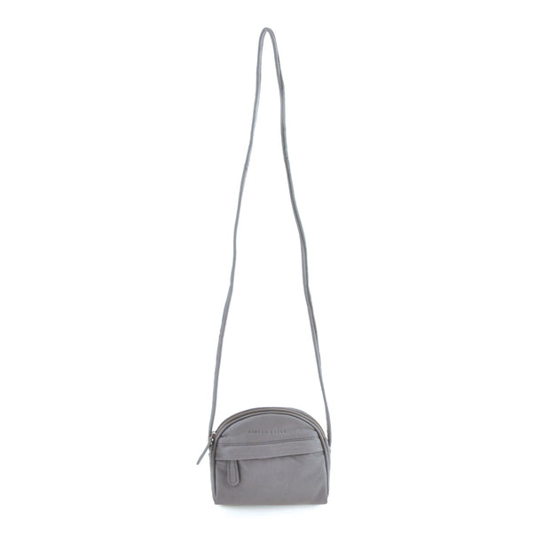 Curved Shoulder Bag - Light Grey