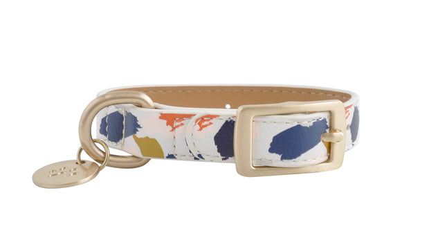 PU Leather Pet Collar XS - ABSTRACT