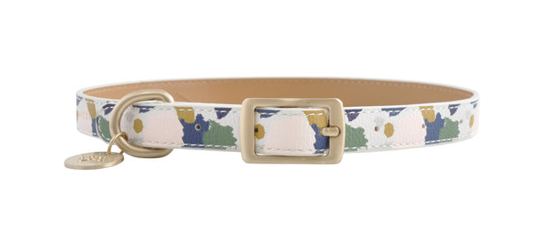 PU Leather Pet Collar L - ABSTRACT