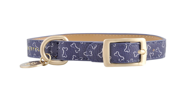 PU Leather Pet Collar S - BONES