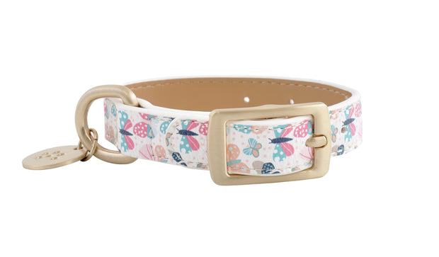 PU Leather Pet Collar XS - BUTTERFLIES