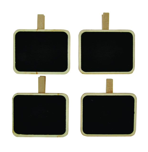 Chalkboard Clips Rectangle - 4pcs