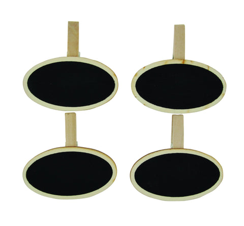 Chalkboard Clips Oval - 4pcs