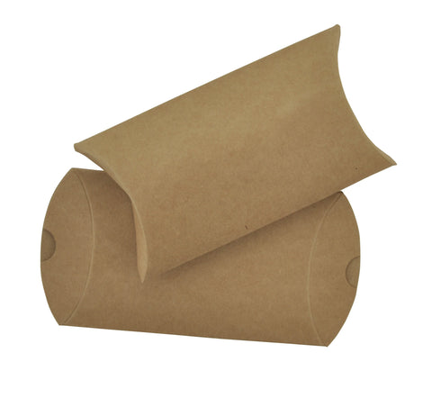Kraft Pillow Gift Box - 6pcs
