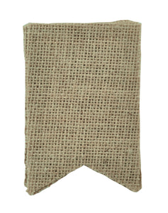 Burlap Pennants - Small - 4pcs - 80x120mm