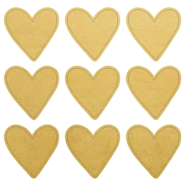 Foil Stickers - Gold Hearts