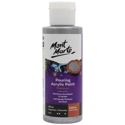 Pouring Acrylic Paint 120ml - Silver