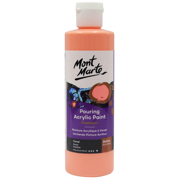 Pouring Acrylic 240ml - Coral