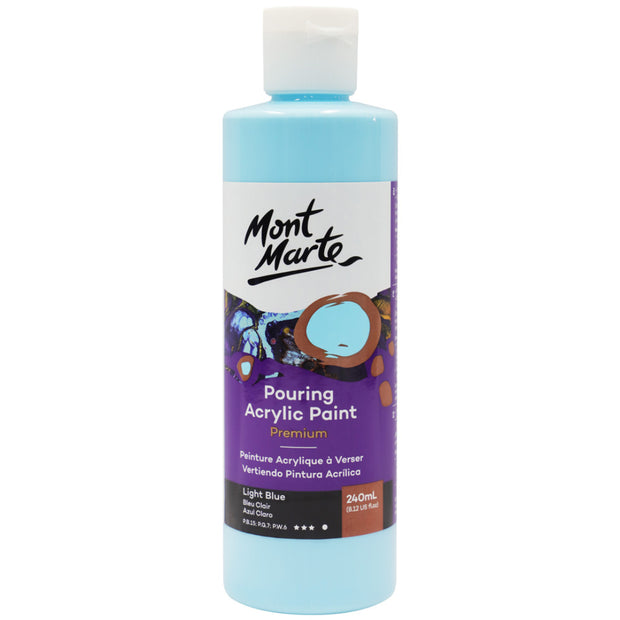 Pouring Acrylic 240ml - Light Blue